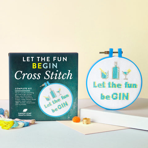 'Let the fun beGIN' Cross Stitch Kit