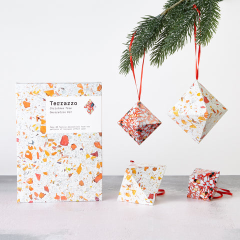 Terrazzo Christmas Tree Decoration Kit