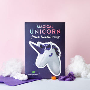 Magical Unicorn Faux Taxidermy Head Kit