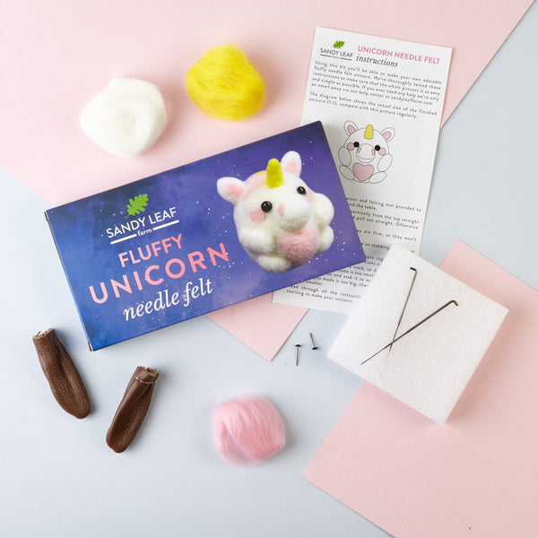 Fluffy Unicorn Needle Felt Kit