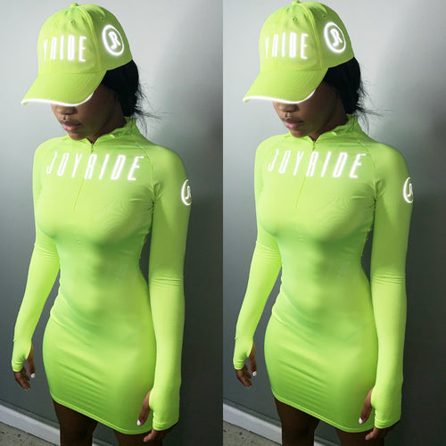 Neon tennis zipper dress