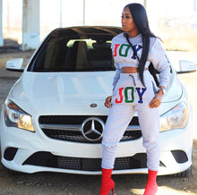 JOY crop sweat suit