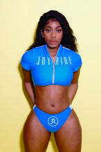 "Caribbean blue ""BAE"" 2 piece bathing suit"