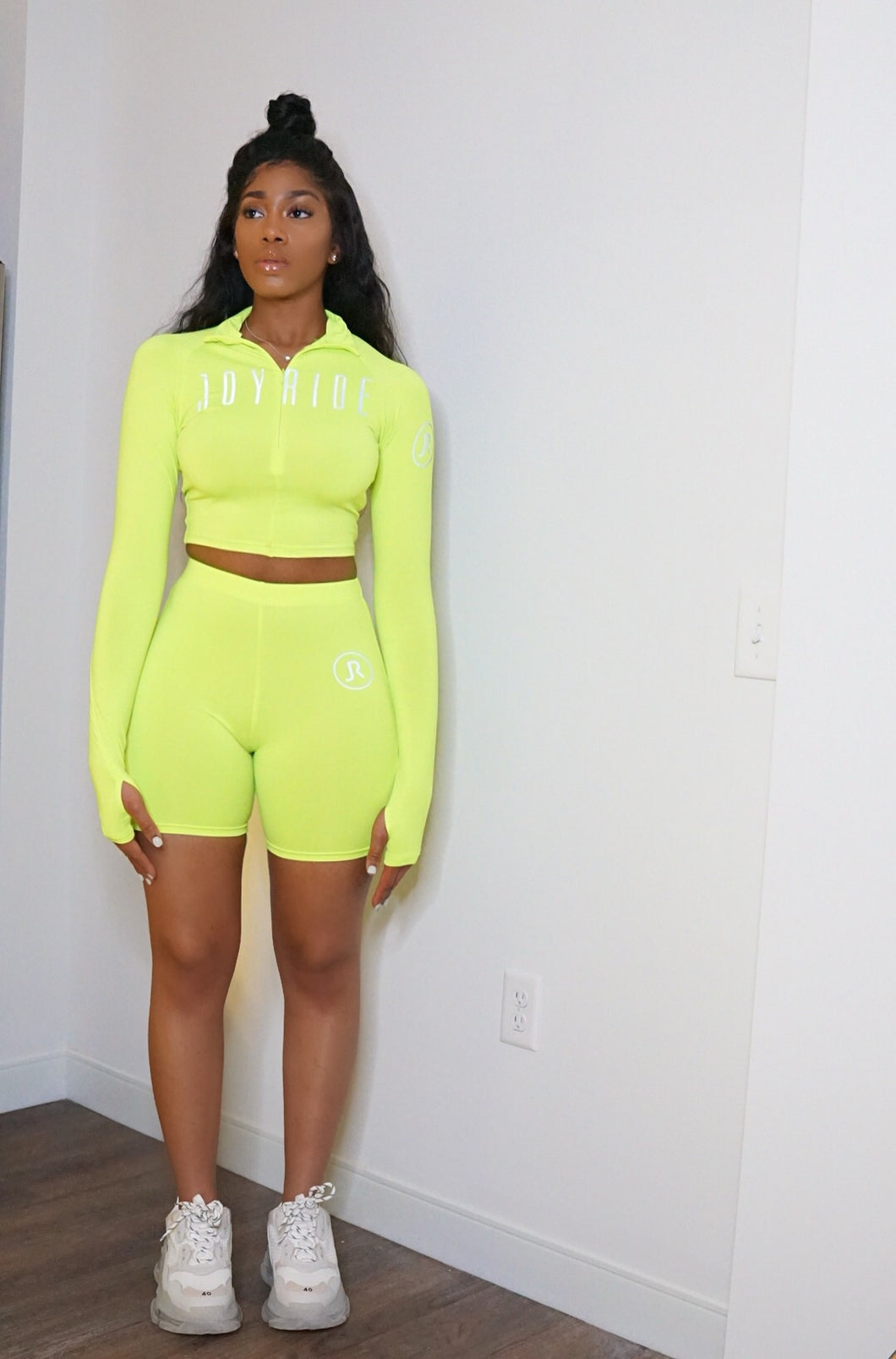 """Nitrous"" neon & and reflective 2 piece"