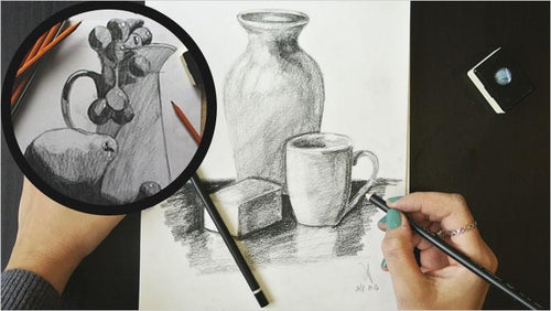 Drawing course for TOTAL BEGINNERS - From Line to STILL LIFE (Online Course) - Find unique online courses to pass the time while in self isolation staying at home, learn a new craft, find a new hobby at Gifteee Cool gifts, Unique Online Courses a great gift idea