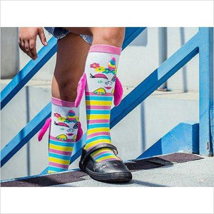 Knee High Character Socks - Unicorn - Find Unicorn gifts for girls and unicorn gifts for women, magical unicorn gifts ideas - jewelry, clothing, accessories and games at Gifteee Unique Gifts, Cool gifts for unicorn lovers
