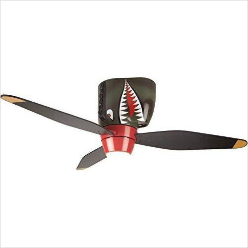 Ceiling Fan - Tiger Shark Warplane With Lights - Fortnite-Lighting - www.Gifteee.com - Cool Gifts \ Unique Gifts - The Best Gifts for Men, Women and Kids of All Ages