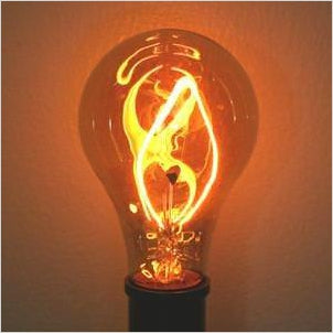 Fire Light Bulb - Ferrowatt 15026 - Find the most unique and unusual gifts. Weird gifts ideas that you never saw before. unusual gadgets, unique products that simply very odd at Gifteee Odd gifts, Unusual Gift ideas