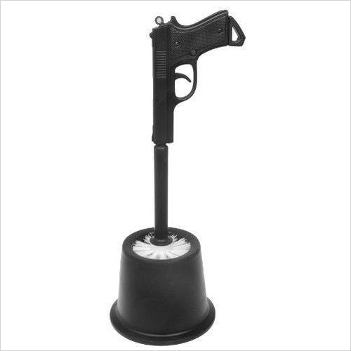 Spy Gun Toilet Brush-Home Improvement - www.Gifteee.com - Cool Gifts \ Unique Gifts - The Best Gifts for Men, Women and Kids of All Ages