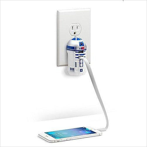 Star Wars R2-D2 USB Wall Charger-Wireless - www.Gifteee.com - Cool Gifts \ Unique Gifts - The Best Gifts for Men, Women and Kids of All Ages