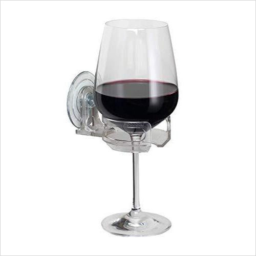 SipCaddy Bath & Shower Portable Wine Cupholder-Home - www.Gifteee.com - Cool Gifts \ Unique Gifts - The Best Gifts for Men, Women and Kids of All Ages