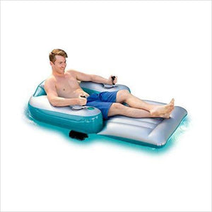 Motorized Inflatable Swimming Pool Lounger-Toy - www.Gifteee.com - Cool Gifts \ Unique Gifts - The Best Gifts for Men, Women and Kids of All Ages