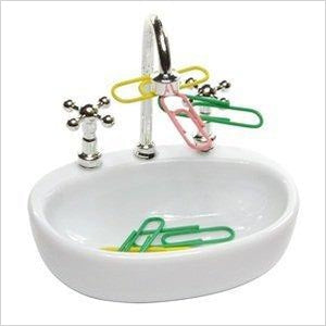 Sink Paper Clip Holder-paper clip holder - www.Gifteee.com - Cool Gifts \ Unique Gifts - The Best Gifts for Men, Women and Kids of All Ages