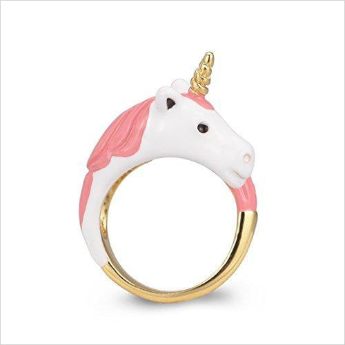 Exquisite 18K Gold Plated Hand Painted Unicorn Ring With Tiffany Blue Gift Box-Jewelry - www.Gifteee.com - Cool Gifts \ Unique Gifts - The Best Gifts for Men, Women and Kids of All Ages