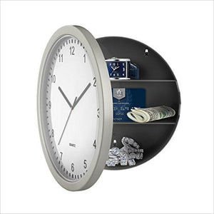 Wall Clock with Hidden Safe-Home Improvement - www.Gifteee.com - Cool Gifts \ Unique Gifts - The Best Gifts for Men, Women and Kids of All Ages
