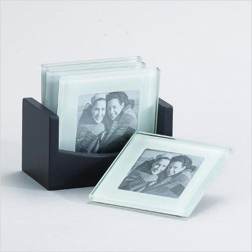 Photo Glass Coaster-Kitchen - www.Gifteee.com - Cool Gifts \ Unique Gifts - The Best Gifts for Men, Women and Kids of All Ages