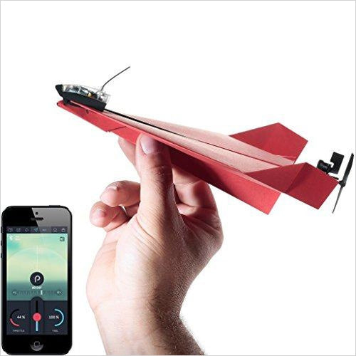 POWERUP 3.0 Smartphone Controlled Paper Airplane-Hobby - www.Gifteee.com - Cool Gifts \ Unique Gifts - The Best Gifts for Men, Women and Kids of All Ages