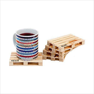 Miniature Pallet Wood Drink Coasters-Kitchen - www.Gifteee.com - Cool Gifts \ Unique Gifts - The Best Gifts for Men, Women and Kids of All Ages
