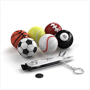 Sports Themed Golf Balls - Find the perfect gift for a sport fan, gifts for health fitness fans at Gifteee Cool gifts, Unique Gifts for wellness, sport and fitness