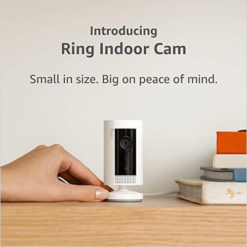 Ring Indoor Cam, Compact Plug-In HD security camera with two-way talk - Alexa-VDO Devices - www.Gifteee.com - Cool Gifts \ Unique Gifts - The Best Gifts for Men, Women and Kids of All Ages