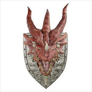 Red Dragon Trophy Plaque-Toy - www.Gifteee.com - Cool Gifts \ Unique Gifts - The Best Gifts for Men, Women and Kids of All Ages