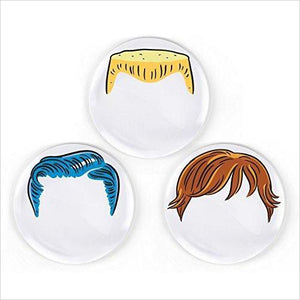 Boy's Hairstyle Dinner Plates-Kitchen - www.Gifteee.com - Cool Gifts \ Unique Gifts - The Best Gifts for Men, Women and Kids of All Ages
