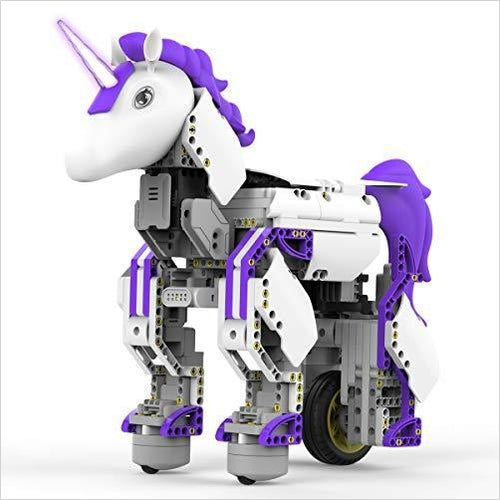 Unicornbot Kit - App-Enabled Building & Coding Stem Learning Kit - Find unique STEM gifts find science kits, educational games, environmental gifts and toys for boys and girls at Gifteee Cool gifts, Unique Gifts for science lovers