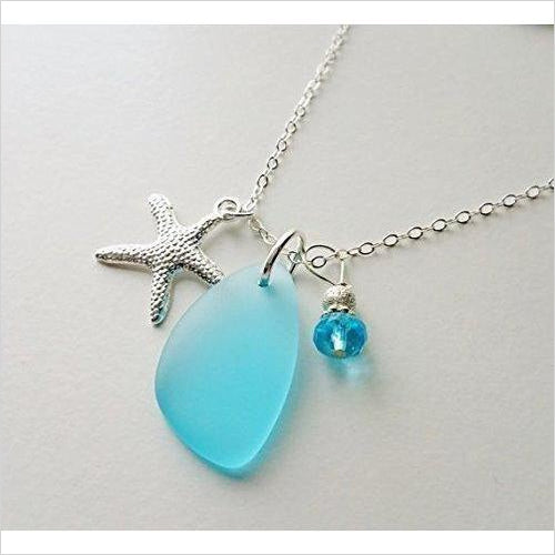 Sea Glass Necklace-Guild Product - www.Gifteee.com - Cool Gifts \ Unique Gifts - The Best Gifts for Men, Women and Kids of All Ages