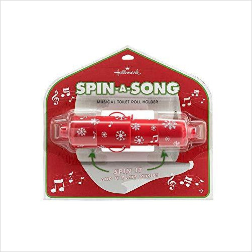 Christmas Spin-a-Song Musical Toilet Roll Holder - Find unique for sound lovers, for music fans, for musicians, composers and everybody that love unique sound related gifts at Gifteee Cool gifts, Unique Gifts for sound and music