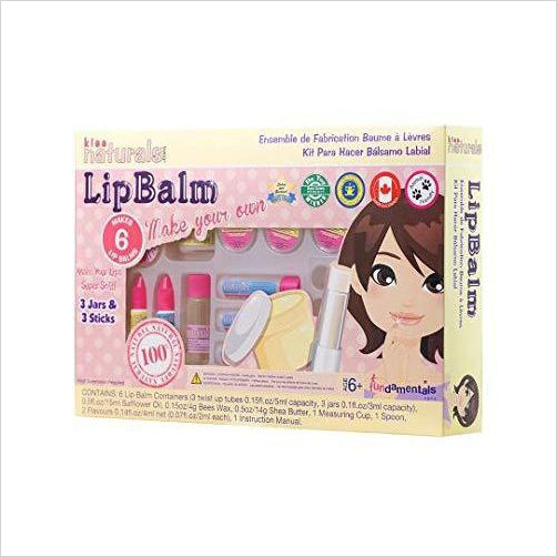 Lip Balm Making Kit - All Natural - Find unique STEM gifts find science kits, educational games, environmental gifts and toys for boys and girls at Gifteee Cool gifts, Unique Gifts for science lovers