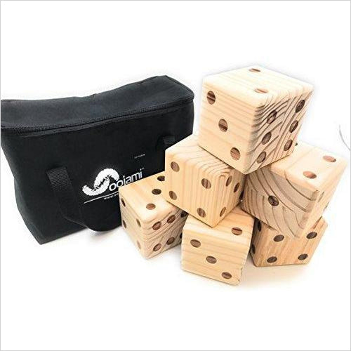 Giant Wooden Yard Dice-Toy - www.Gifteee.com - Cool Gifts \ Unique Gifts - The Best Gifts for Men, Women and Kids of All Ages
