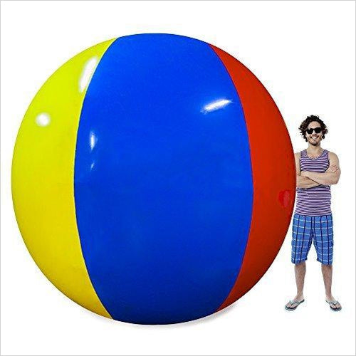 Beach Behemoth - Giant Inflatable 12-Foot Pole-to-Pole Beach Ball - Find the perfect gift for a sport fan, gifts for health fitness fans at Gifteee Cool gifts, Unique Gifts for wellness, sport and fitness