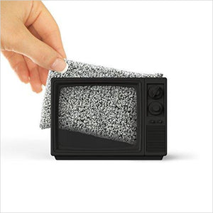 Static TV Sponge Holder - Find the most unique and unusual gifts. Weird gifts ideas that you never saw before. unusual gadgets, unique products that simply very odd at Gifteee Odd gifts, Unusual Gift ideas