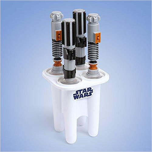 Star Wars Lightsaber Ice Pop Maker - Find unique gifts that will get you kids eating well and eating healthy with unique foodie gifts for kids dinner and the kitchen at Gifteee Cool gifts, Unique Gifts that will make kids enjoy eating