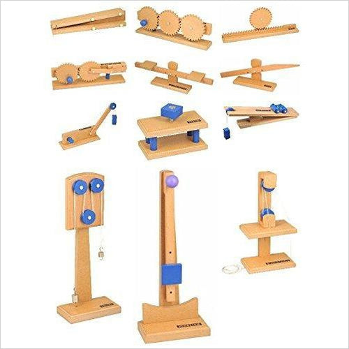 Simple Machines, Complete Set of 12 - Find unique gifts for boys age 5-11 year old, gifts for your son, gifts for your kids birthday or Christmas, gifts for you children classmates and friends at Gifteee Unique Gifts, Cool gifts for boys