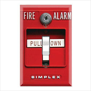 Fire Alarm Wall Switch Cover Plate - Find the most unique and unusual gifts. Weird gifts ideas that you never saw before. unusual gadgets, unique products that simply very odd at Gifteee Odd gifts, Unusual Gift ideas