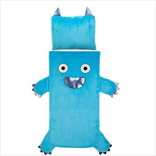 Kids Plush Sleeping Bag with Pillow (Monster) - Find unique gifts for boys age 5-11 year old, gifts for your son, gifts for your kids birthday or Christmas, gifts for you children classmates and friends at Gifteee Unique Gifts, Cool gifts for boys
