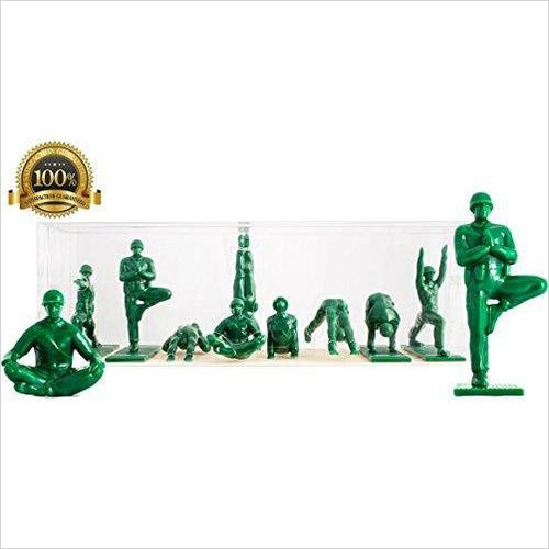 Yoga Joes - Green Army Men Toys - Find the perfect gift for a sport fan, gifts for health fitness fans at Gifteee Cool gifts, Unique Gifts for wellness, sport and fitness