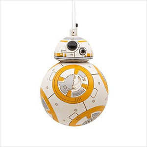 Hallmark Star Wars BB-8 Christmas Ornament - Find unique gifts for Star Wars fans, new star wars games and Star wars LEGO sets, star wars collectibles, star wars gadgets and kitchen accessories at Gifteee Cool gifts, Unique Gifts for Star Wars fans