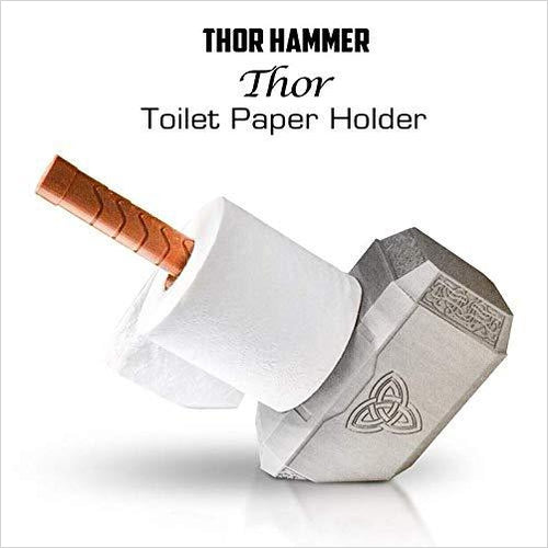 Marvel Thor's Hammer Toilet Paper Holder-Home - www.Gifteee.com - Cool Gifts \ Unique Gifts - The Best Gifts for Men, Women and Kids of All Ages