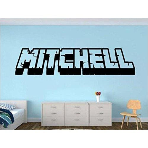 Personalized Gamer Name decal (Minecraft style) - Gifteee. Find cool & unique gifts for men, women and kids