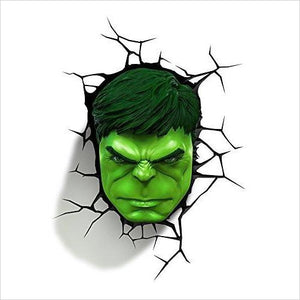 Hulk Face 3D Night Light - Find unique gifts for boys age 5-11 year old, gifts for your son, gifts for your kids birthday or Christmas, gifts for you children classmates and friends at Gifteee Unique Gifts, Cool gifts for boys