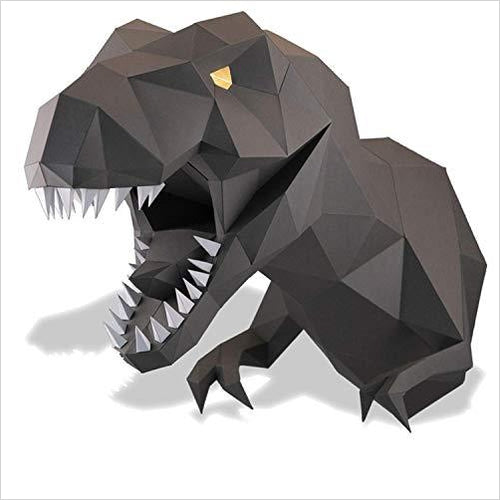 Dinosaur head 3D paper craft kit puzzle-Home - www.Gifteee.com - Cool Gifts \ Unique Gifts - The Best Gifts for Men, Women and Kids of All Ages