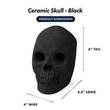 Load image into Gallery viewer, Ceramic Fireplace Skull - Gifteee. Find cool & unique gifts for men, women and kids