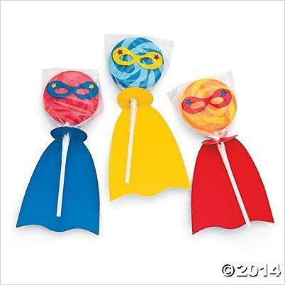 Superhero Swirl Lollipop Set-Grocery - www.Gifteee.com - Cool Gifts \ Unique Gifts - The Best Gifts for Men, Women and Kids of All Ages