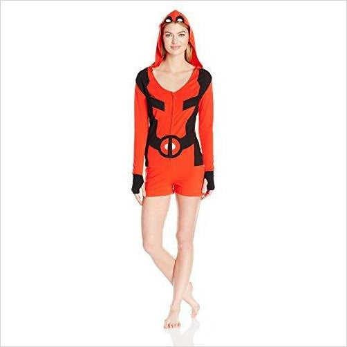 Marvel Women's Deadpool Romper - Find unique gifts for superhero fans, the avengers, DC, marvel fans all super villians and super heroes gift ideas, games collectibles and gadgets at Gifteee Cool gifts, Unique Gifts for comic book fans
