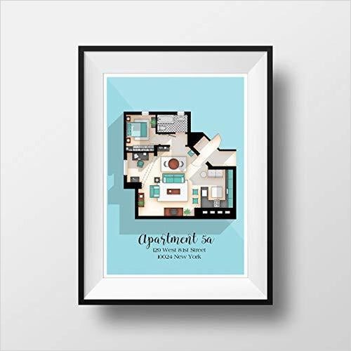 Seinfeld TV Show Apartment Floor Plan-Guild Product - www.Gifteee.com - Cool Gifts \ Unique Gifts - The Best Gifts for Men, Women and Kids of All Ages