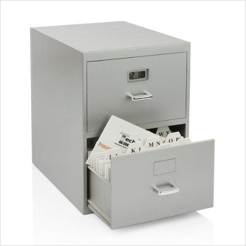 Miniature File Cabinet for Business Cards - Gifteee. Find cool & unique gifts for men, women and kids