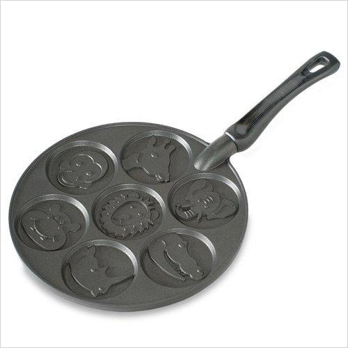 Zoo Friends Pancake Pan - Find unique gifts that will get you kids eating well and eating healthy with unique foodie gifts for kids dinner and the kitchen at Gifteee Cool gifts, Unique Gifts that will make kids enjoy eating
