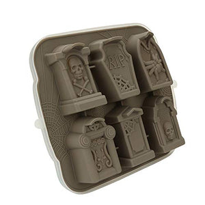 3D Skull Tombstone Ice Cube Mold - Find scary gifts for Halloween, disgusting gifts for horror, weird gifts for oddity lovers and some firefighting special effects lovers at Gifteee Cool gifts, Unique Gifts for Halloween